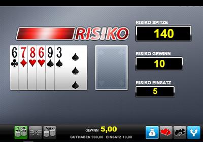 Risiko Bildschirm bei El Torero