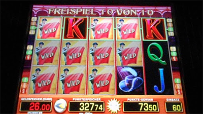 Freispiel Bildschirm bei El Torero der Slot von Merkur